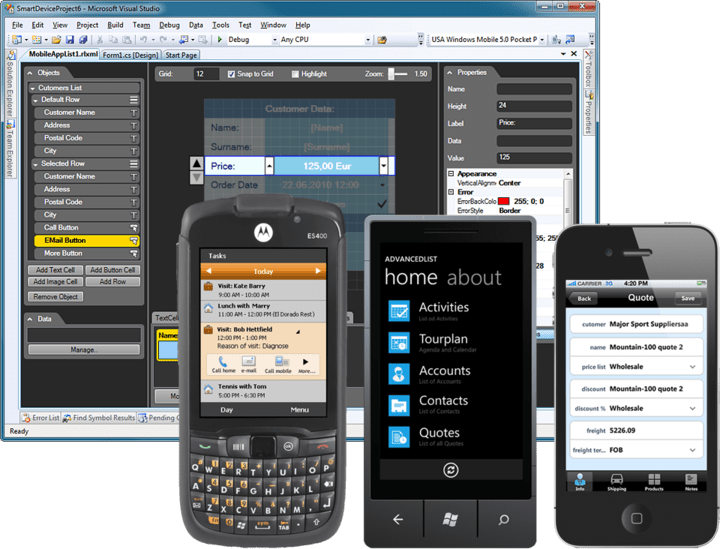 About Resco MobileApp Studio Universal Edition: Rapid mobile application developer platform for WM, WP7, iOS and Android.