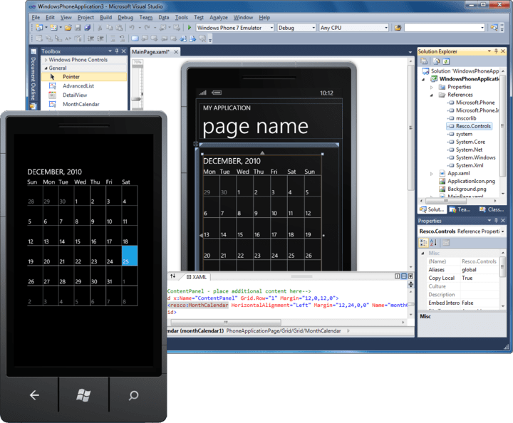 About Resco MobileForms Toolkit Windows Phone 7 Edition: Smart development for mobile devices with controls for .NET CF, Windows Phone 7 (WP7).
