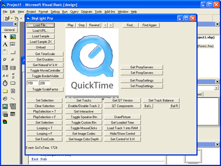 About SkyLight: Display QuickTime digital video from within your application.