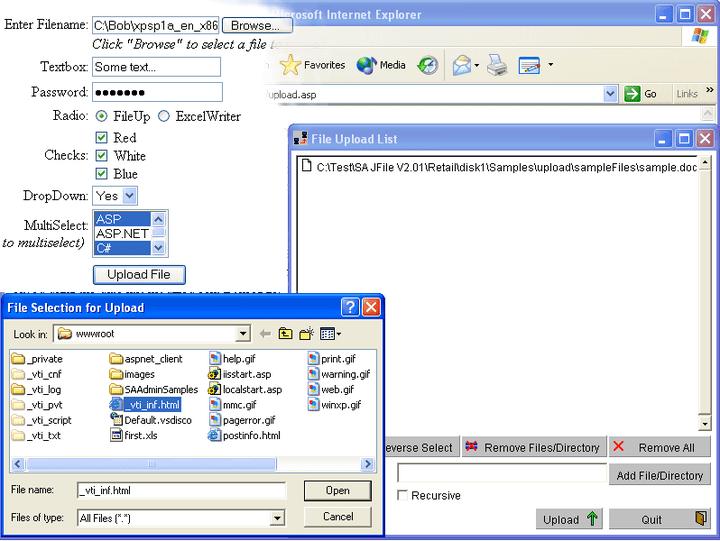 About FileUp Enterprise: Upload files to an IIS web server.