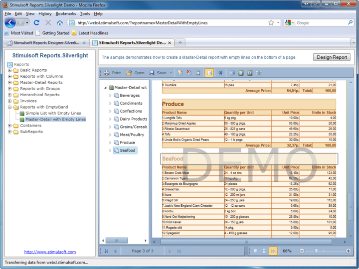 About Stimulsoft Reports Designer.Silverlight: Add reporting to your Silverlight applications.