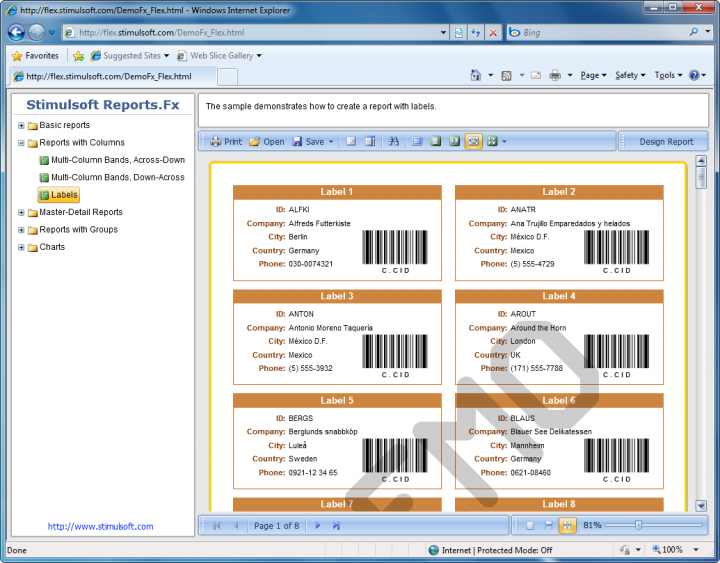 About Stimulsoft Reports.Fx for Flex: Add reports to your Flex applications.