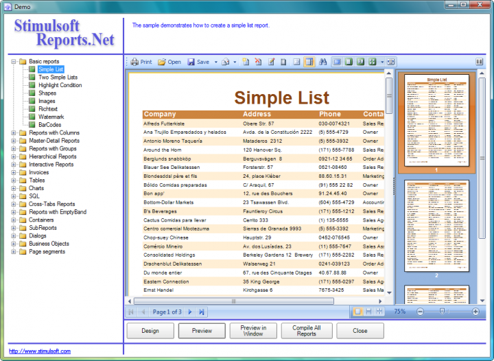 About Stimulsoft Reports.Ultimate: Render reports in your .NET applications.