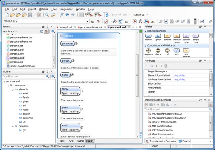 About oXygen XML Editor Academic: Cross platform XML editor.