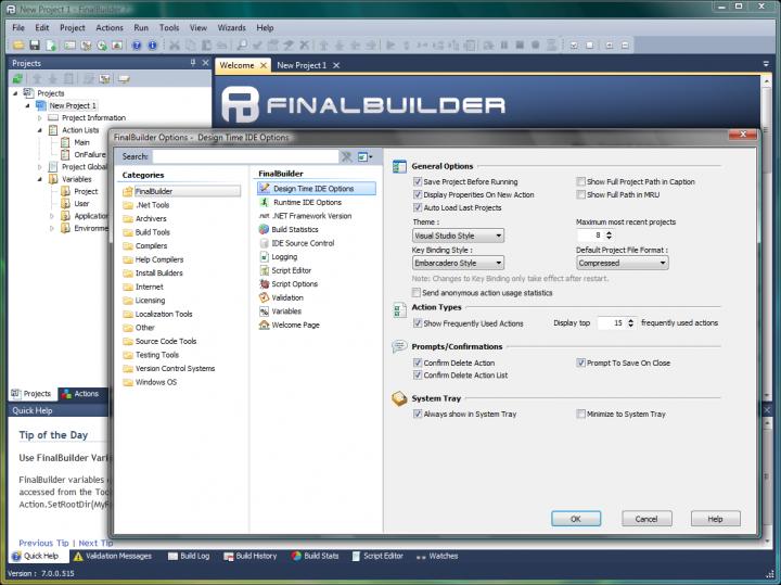 About FinalBuilder: Point, click, build, deliver.