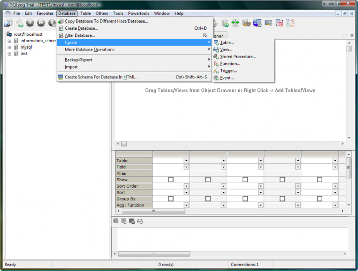 About SQLyog: MySQL manager and admin tool.