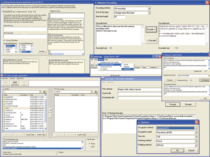 About Xceed Data Manipulation Suite: A solution for your compression, encryption and networking needs.