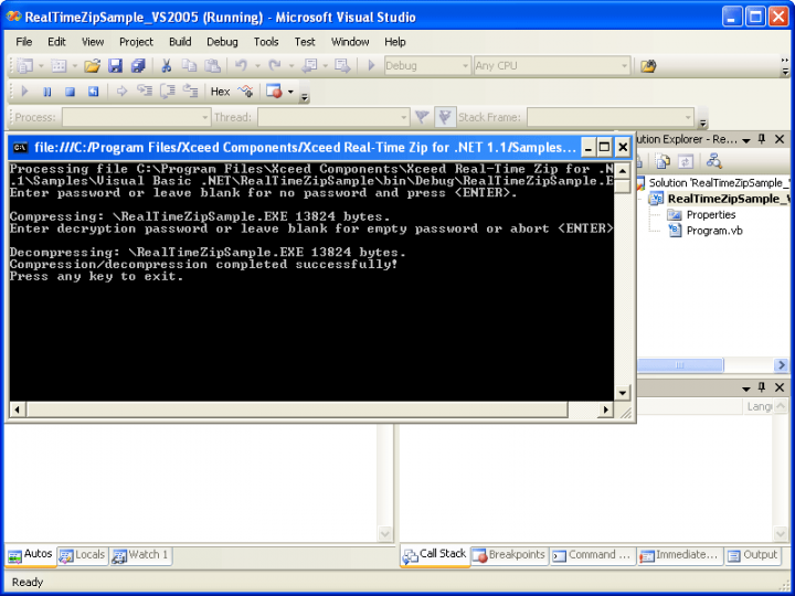 About Xceed Real-Time Zip for .NET: Read or write Zip archives without resorting to intermediate disk/memory storage.
