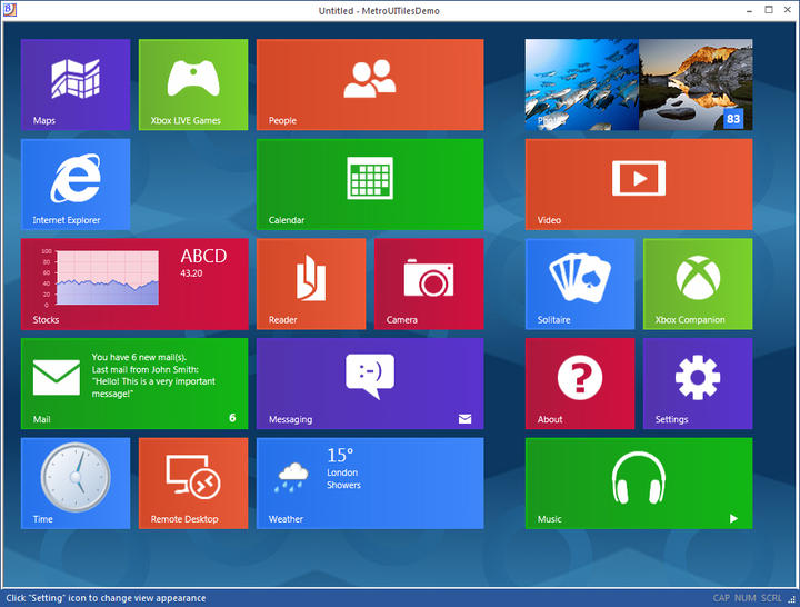 Windows 8 style Tiles control.