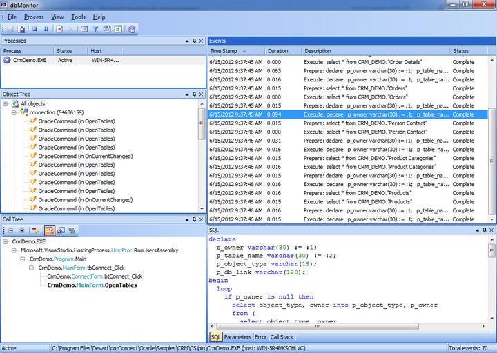 Analyze all database calls.