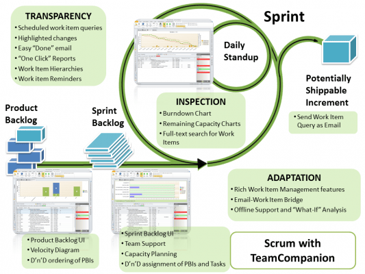 Agile/Scrum project management.