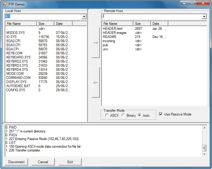 Transfer files via FTP servers. Easy, plug & play, extensible interface.