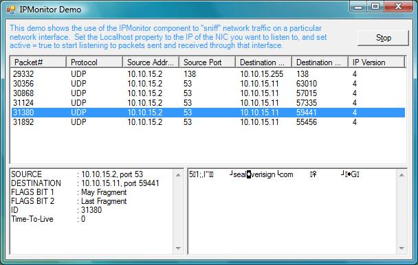 TCP stream client component. Asynchronous architecture.