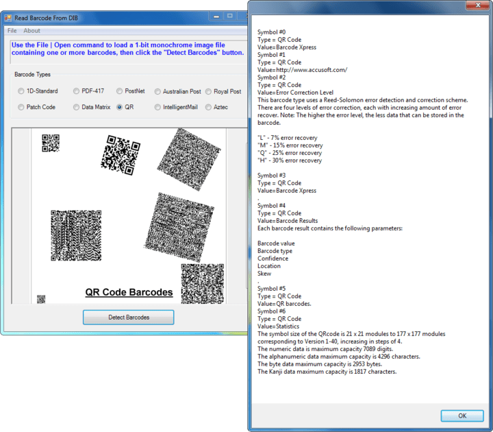 Confidence: Report confidence values for detected barcodes.