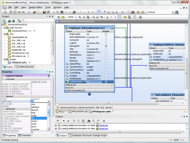 Screenshot of Altova DatabaseSpy 2015 Enterprise Edition - Concurrent Users
