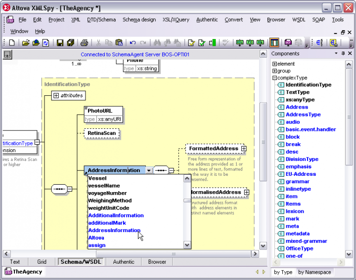 Screenshot of Altova MissionKit Professional 2015