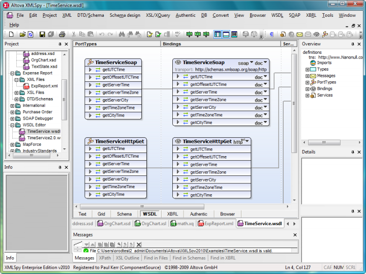 XML Editor: XMLSpy is an advanced XML editor for modeling, editing, transforming, and debugging XML-related technologies. The XML editor delivers the power you need to create the most advanced XML and Web applications.