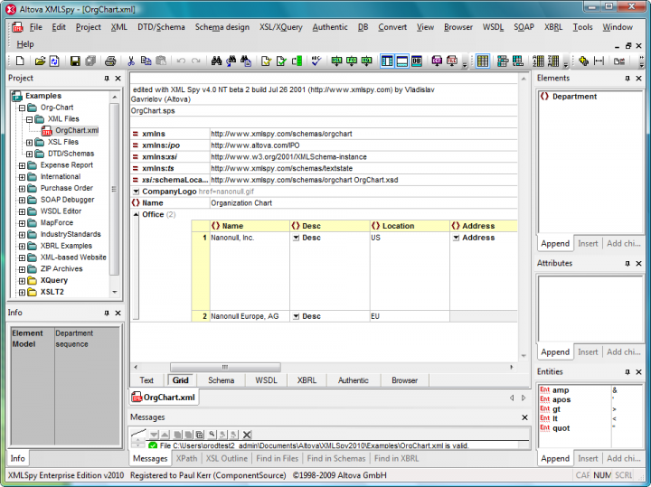 Relational and XML Database Tools