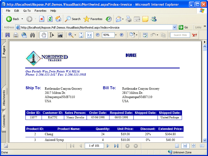 Separate Pages: Create a pdf document that prints (for example) each invoice on a separate page.