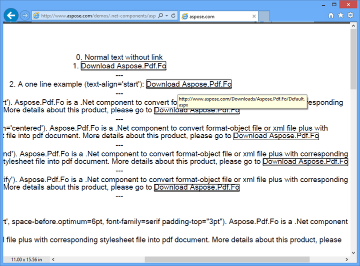 Links: You can creates pdf documents from FO files that include links.