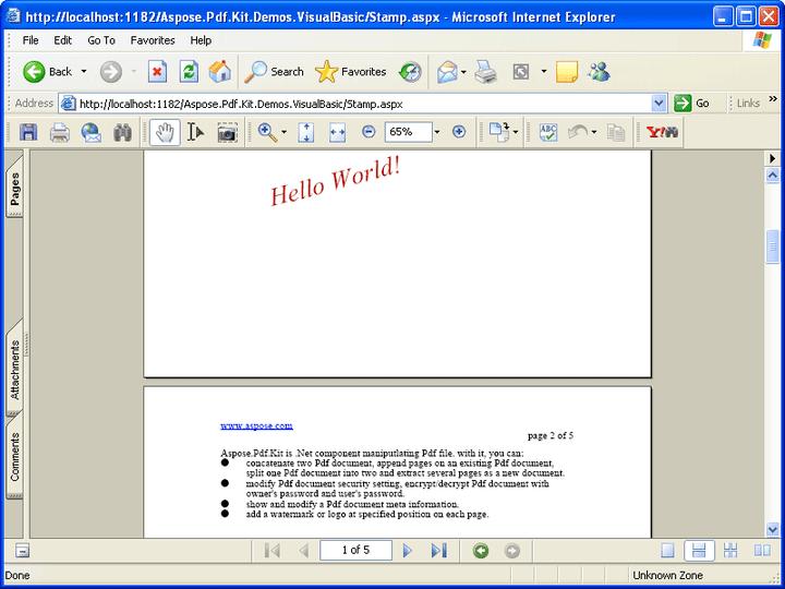 Aspose.Pdf.Kit: Aspose.Total includes Aspose.Pdf.Kit a PDF document manipulation component.