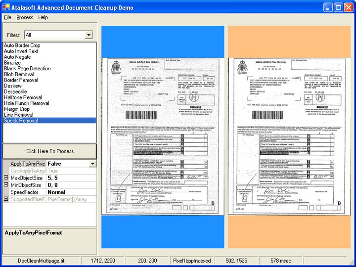 반점 제거: Document cleanup은 문서의 반점을 제거해 문서를 훨씬 선명하고 읽기 쉽게 만듭니다.