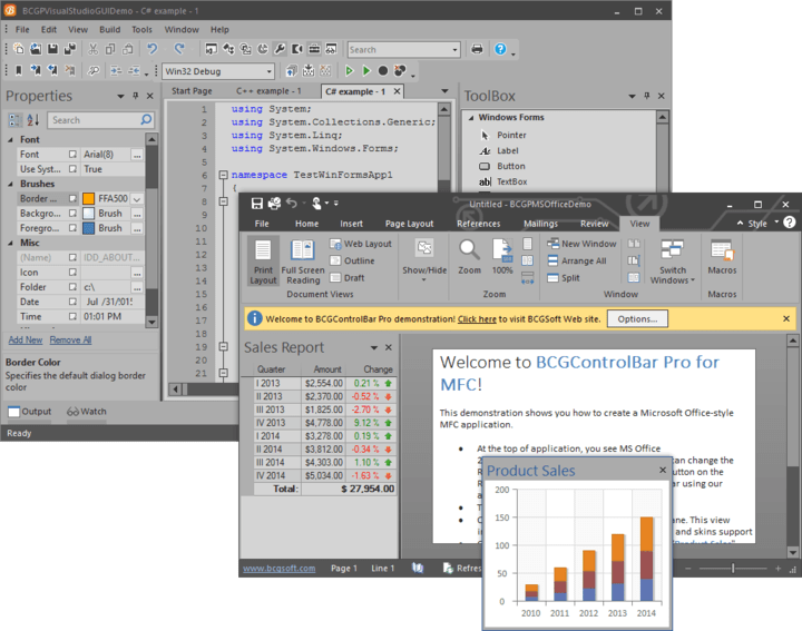 Office 2016-style UI Dark Gray Theme