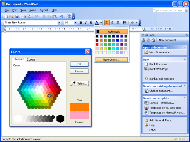 Screenshot TitleMS Word 2003-style GUI