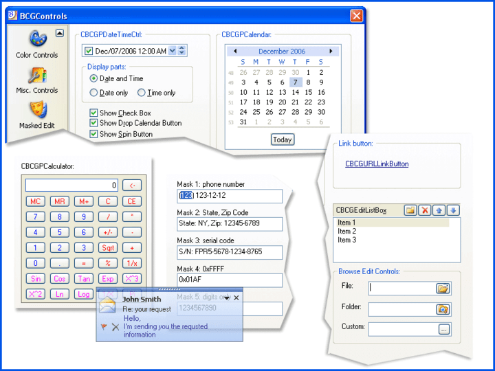 Advanced GUI controls