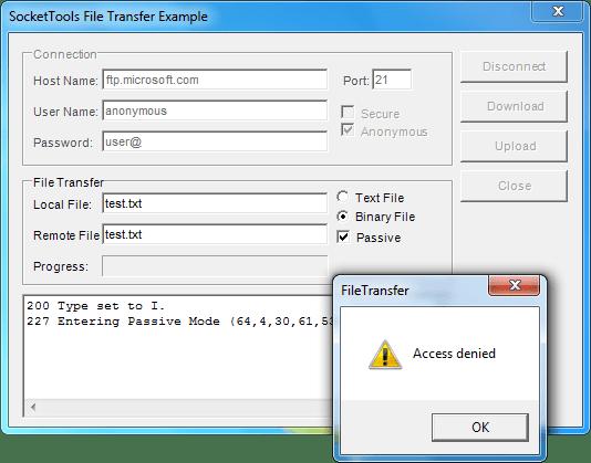 Screenshot of SocketTools ActiveX Edition