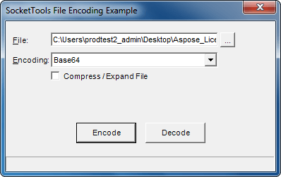 Screenshot of SocketTools ActiveX Edition