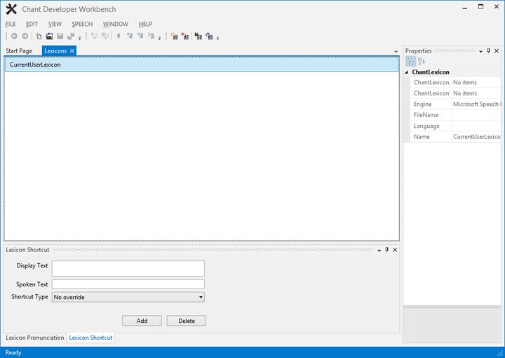 SAPI5 Shortcut Editing