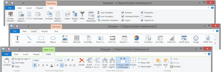 Office 2013 Ribbon Style: The ribbon menu has received a complete makeover, creating a fresh, streamlined and intuitive interface with flat icons.