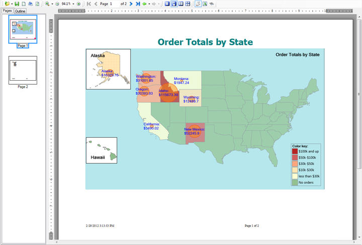 Visualize: Visualize which geographic areas have the most activity or revenue.