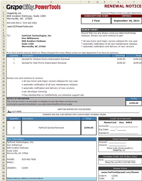 Reports: Easily create invoices and other reports.