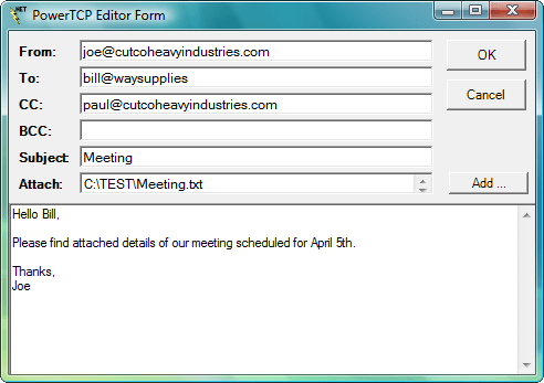PowerTCP Mail for .NET