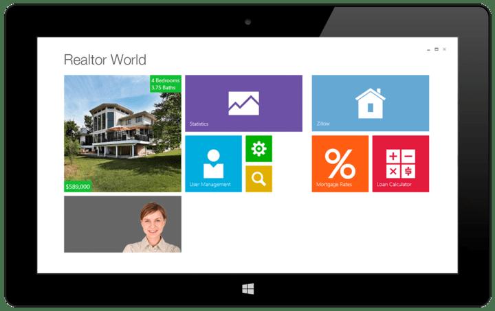 Windows Tile Control