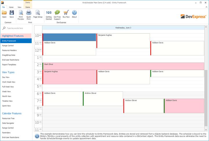 WinForms Scheduler-Calendar Control