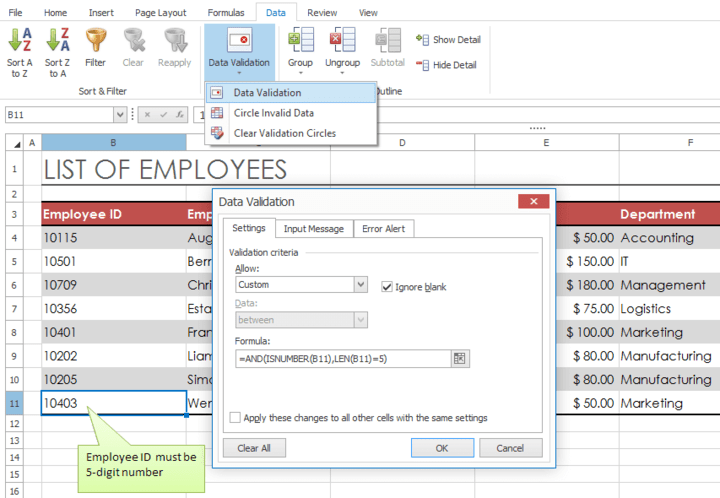 WinForms Spreadsheet Control
