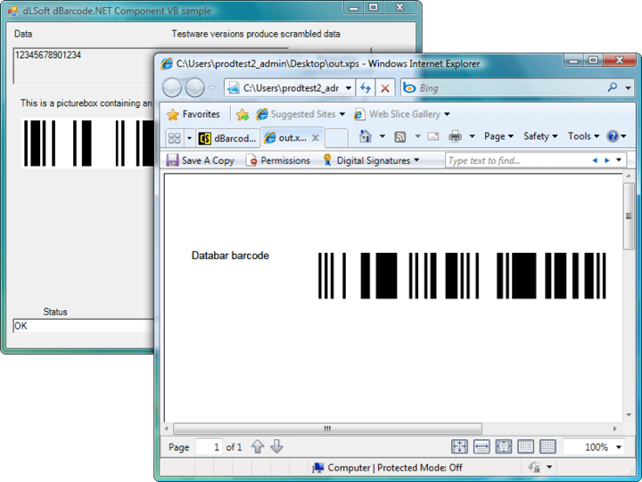 Printing : Printing the image returned by the Barcode() call may be accomplished by any of the printing techniques available for Visual Studio.NET project.