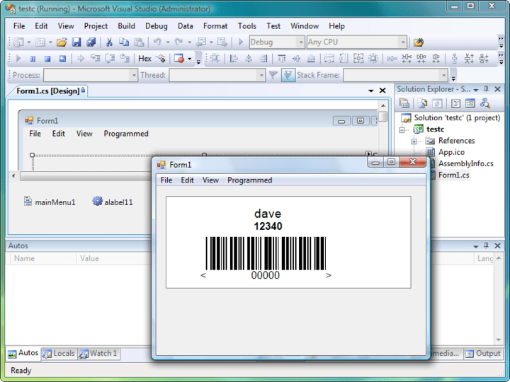 Screenshot of Labels.NET: Labels.NET is a Windows Forms Component for the incorporation of label design and/or printing into Windows projects. The component is designed to integrate into Visual Studio.NET.