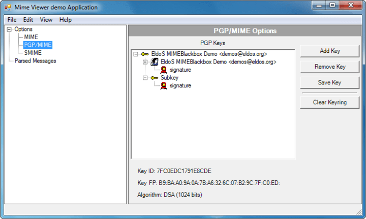Screenshot of SecureBlackbox .NET Data Security - In-house
