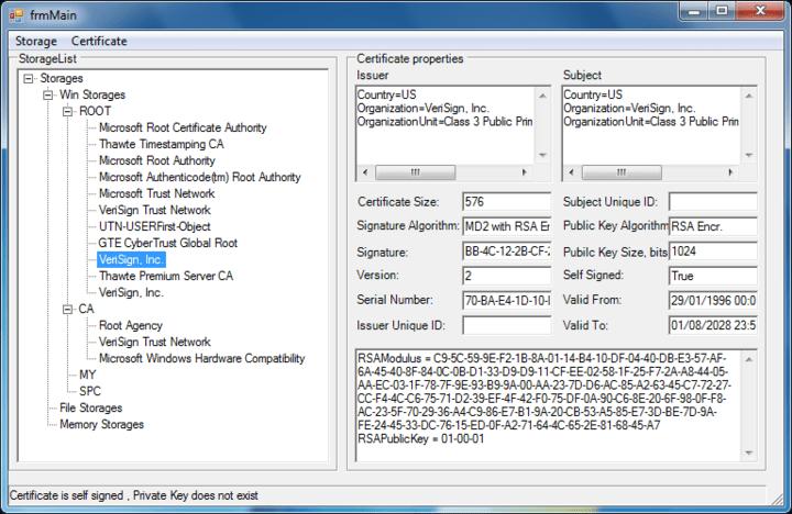 Screenshot of PKIBlackbox .NET - In-house
