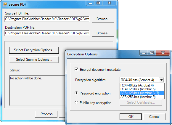 Screenshot of SecureBlackbox VCL Data Security - In-house