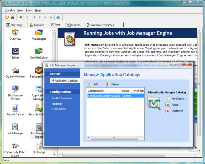 Screenshot of AdminStudio Enterprise