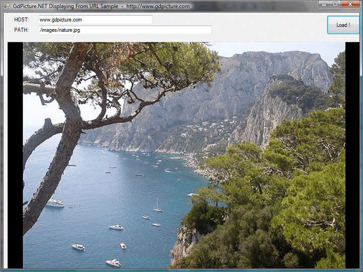 Load / Save images on FTP & HTTP servers: GdPicture.NET loads and saves images & PDF files on FTP and HTTP servers. GdPicture.NET can also load and save images in more than 45 formats from 1-bit to 128-bit including High Dynamic Range images, JPEG2000, JBIG, PSD, JPEG, TIFF, PNG, etc..