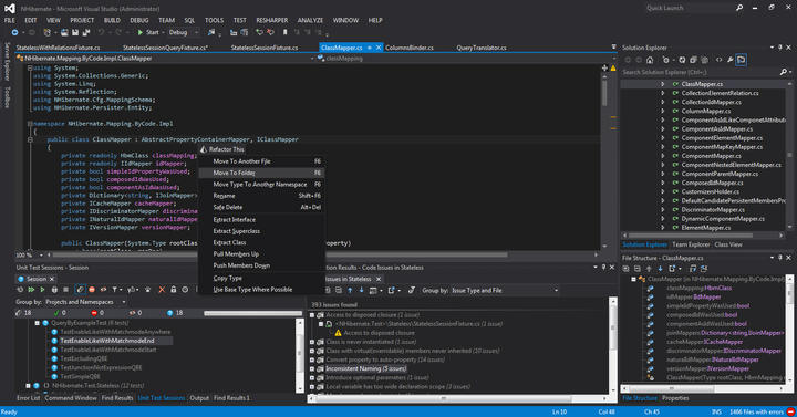 ReSharper: All ReSharper functionality is available in Visual Studio. Specific for that version of VS is the out-of-the-box support for both Light and Dark color themes.