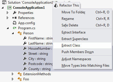 Invoking Extract Class: This new refactoring helps break up a complex class into several simple classes, thus respecting the principle of single responsibility and reducing code complexity.