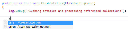 Live Templates: Live templates are ReSharper's more intelligent version of Visual Studio's code snippets. ReSharper can predict from the context which variables, fields, and types can be used in corresponding templates.