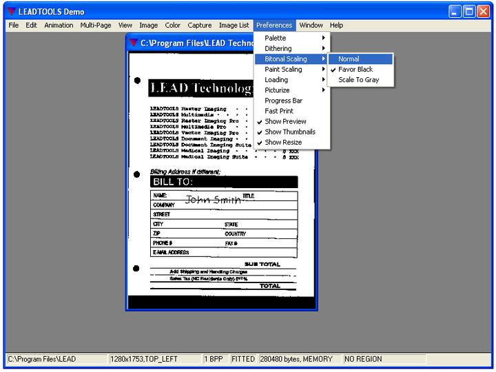 Bitonal Scaling: Black and White image sharpening through dual tone scaling